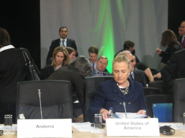 US Secretary of State, Hillary Clinton.Photo:Martha Gberevbie