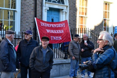 Independent Workers Union at the small protest