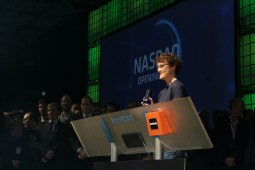 Paddy Cosgrave at the ringing of the Nasdaq bell