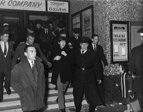 Strangely, the Beatles managed only one visit to Dublin in their entire career. Credit: National Library of Ireland