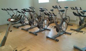 DIT College gym bike room.