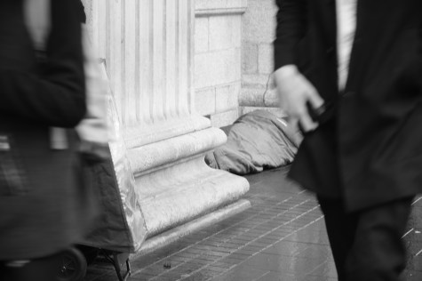 However, there is a problem that should be tackled: homeless people sleeping rough on the streets of Dublin. Photo by: Maira De Gois
