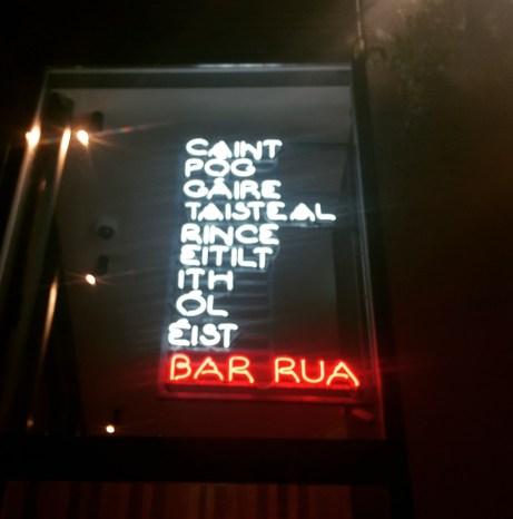 bar rua sign