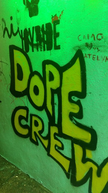 Graffiti on Crampton Court as part of the lovely lane initiative, image by Hannah Lemass