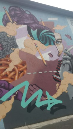 Mural in the Tivoli theater carpark, image by Hannah Lemass