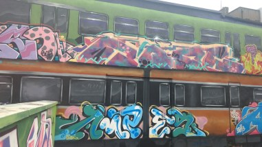 Graffiti in the Tivoli theater carpark, image by Hannah Lemass
