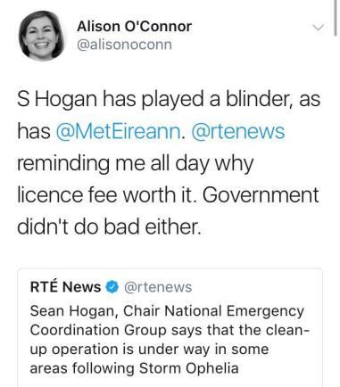 Alison O'C Tweet