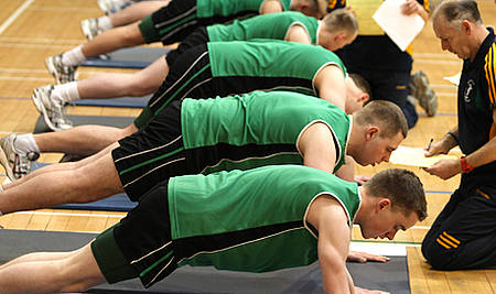 Fitness exam most common cause for failure in Army Reserve