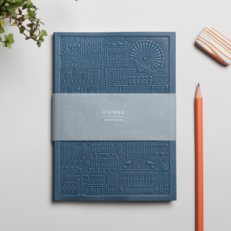 The Vienna Notebook Blue by The City Works