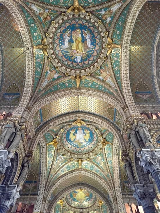 Inside church in Lyon