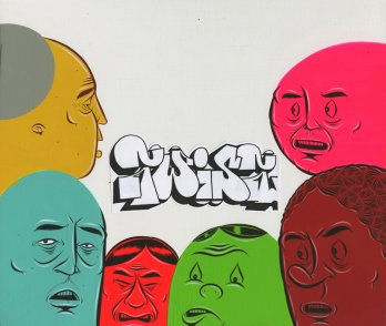 Painting by Barry McGee