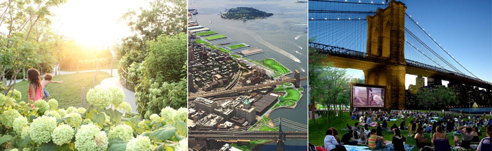 Images by MVA Inc, the design firm for Brooklyn Bridge Park