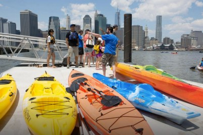 Kayak dock at Pier 2 (Ph: BBP/J. Schaer)