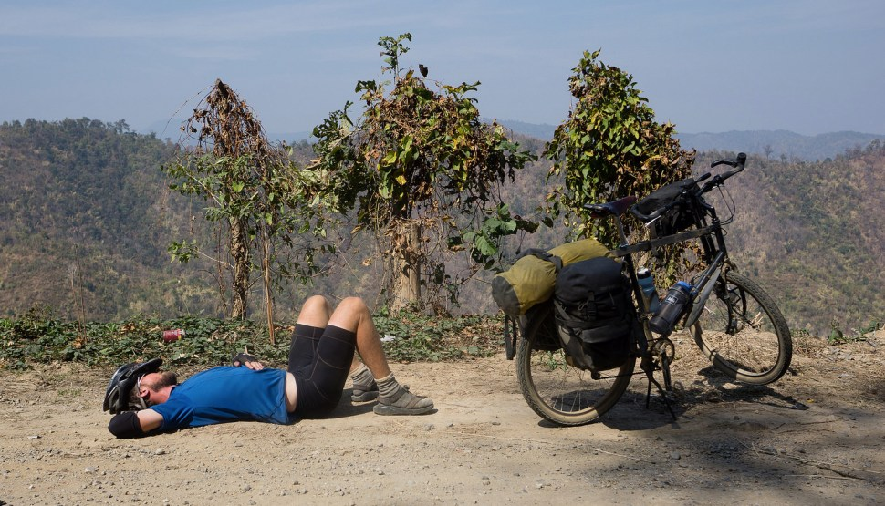 The importance of napping when biking around globe. (Photo: Lindsey Fransen)