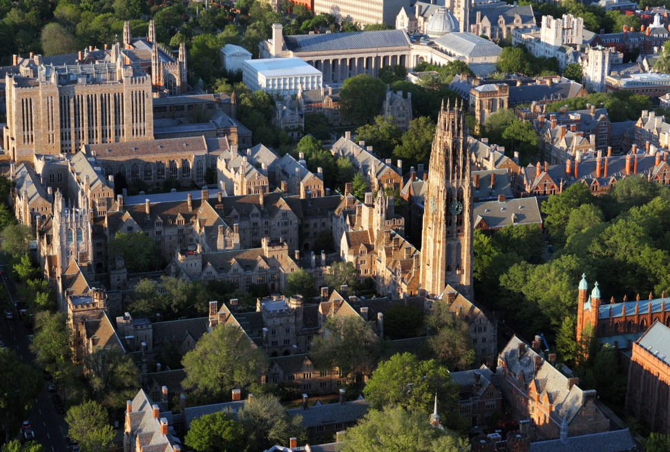 An American university can be like living in a fairy tale, but with trouble just outside the walls. (Photo: Yale University)