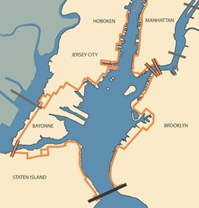 The Proposed Harbor Ring (http://www.streetsblog.org/wp-content/uploads/2012/10/route_map.png)