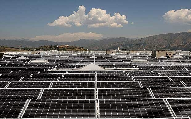 China is investing in solar. Photo: Getty Images