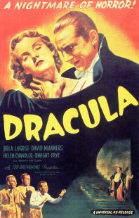 Poster for 'Dracula'(1931) starring Bela Lugosi which was shown in Meeting House Square, Temple Bar on Saturday 26 October 2013. © Universal Pictures 1931
