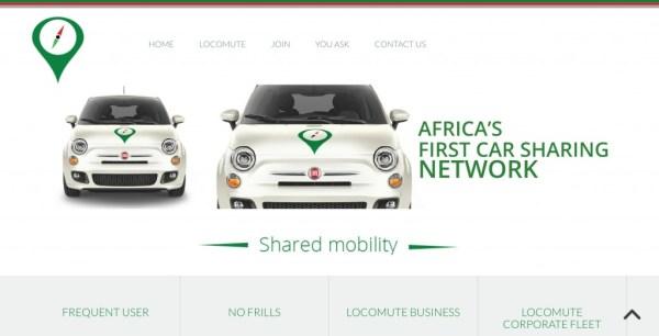 Güney Afrika'da hizmet veren Locumute, Afrika'nın ilk araç paylaşım sistemi işletmecisidir. Fotoğraf: Locumute
