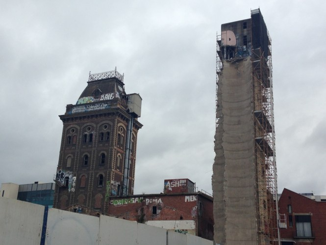 Demolition Of The Former Yorkshire Brewery Silos Is Well Underway