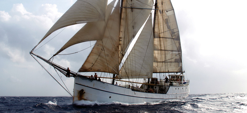 Sailing to Cartagena on the Stahlratte