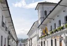 The colonial streets of Popayan.