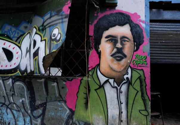 Even drug lord Pablo Escobar had his face on the walls of El Bronx.