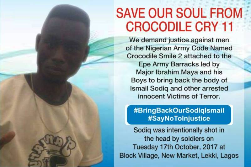 ANOTHER GRUESOME KILLING IN LAGOS BY OPERATION CROCODILE SMILE