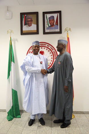 SGF Boss Mustapha Meets Bukola Saraki