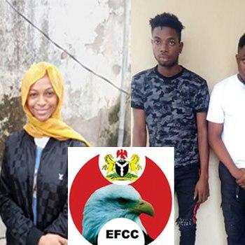Internet Fraud: EFCC Arrests Popular Skit Maker, Four Others {Photo}