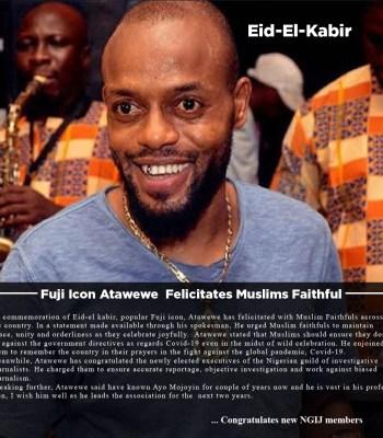 Eid-El-Kabir: Fuji ICON Atawewe Felicitates Muslims Faithful
