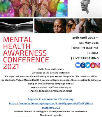 Mental Health Awareness Virtual Conference 2021