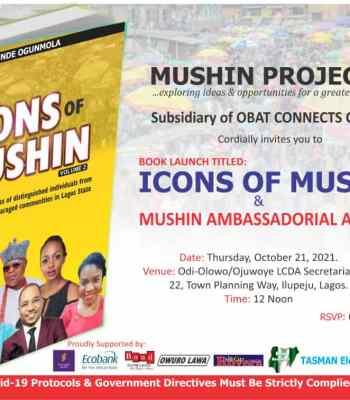 Icons Of Mushin Book Launch: Obafemi Hamzat, Primate Ayodele, Atawewe, Oshoala To Be Honoured