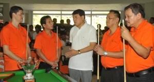 Villards Cup - Sen Manny Villar with the Filipino Billards Champs