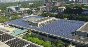 Solar Panels on ADB Rooftop Installed by Green Heat