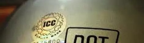 ICC Stickers on Motorcycle Helmet