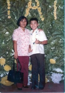 me and mama at my elementary graduation