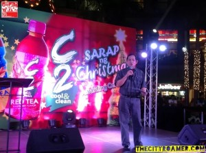 Vice-President and General Manager for URC Beverage Division, Edwin Totanes at the C2 Sarap ng Christmas Awarding