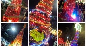 C2 Sarap ng Christmas-Tree Making Contest display at Market! Market!