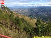 Sloping Terrain and Baguio City at the peak of Mount Cabuyao