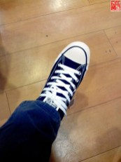 Trying on my Chucks at the SM City Sta Mesa 3-Day Sale Aug 15 2014