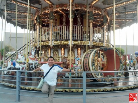 The City Roamer with the Carousel at the Sky Ranch Pampanga