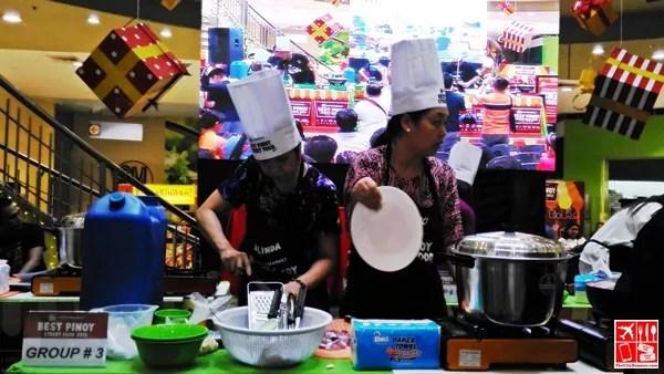 Group 3 preparing food at the Best Pinoy Street Food 2015