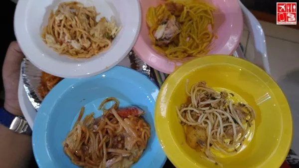 Tasting Spaghetti for judging at the Best Pinoy Street Food 2015