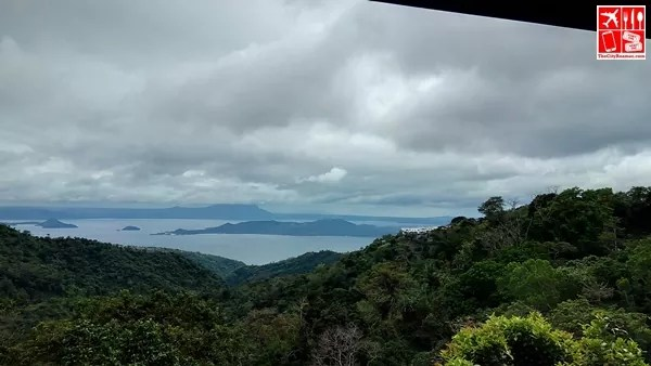Beautiful view from the patio of a room at Estancia Resort Hotel Tagaytay