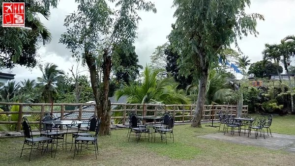 Outdoor tables and chairs at Estancia Resort Hotel Tagaytay