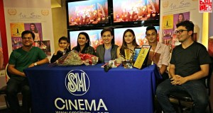 The cast of 1st Sem with Writer, Director Producer Allan Ibanez (Leftmost end) and Dexter Hemedez (Rightmost end)