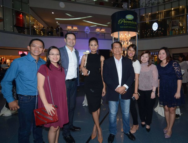 Uratex Executives and Managers enjoy the company of special guest Venus Raj crowned 4th Runner-up Miss Universe 2010 during the Sleep Revolution launch event.  With her (from left) are Edwin Gallor, Director of Uratex Automotive Group, Marvey Alcantara, Uratex Consumer-Marketing Manager, Dindo Medina, Uratex Sales Director, Eddie Gallor, President of RGC Group of Companies, Love Sacluti, Uratex Brand Manager, Cherry Tan, Uratex Marketing Director and Meg Rosello, Uratex Marketing-Copy Editor.
