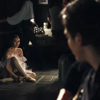 A scene in the music video between Edward and Abigail Oliveiro