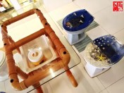 A closer look of Boracay Toilet's table and chairs